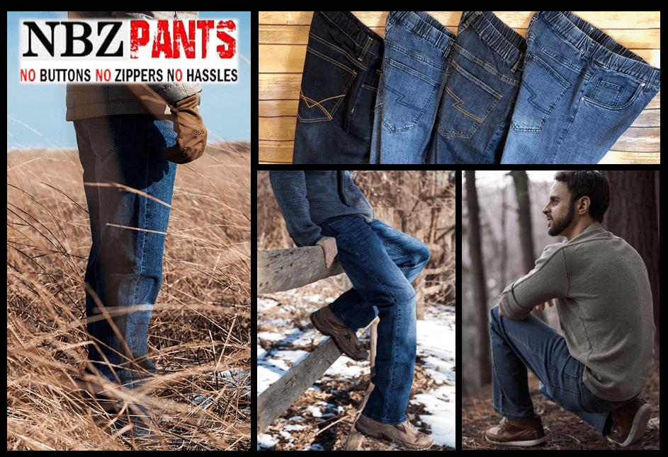 Elastic Waist Jeans No Zipper