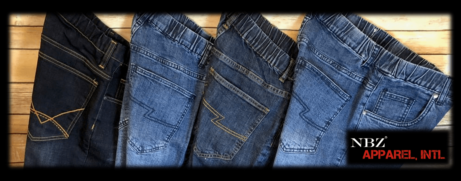 71198389ed4736 Jeans & Pants Without Zippers - Elastic Waist Denim Pants - NBZ Apparel