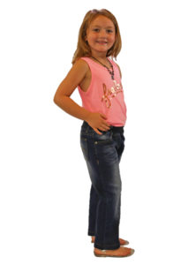 Elastic Waist Jeans for girls